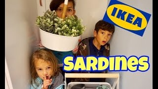family sardines in ikea store   hide seek