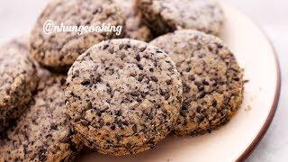 BÁNH QUY MÈ ĐEN / Black Sesame Cookies by Nhung Cooking