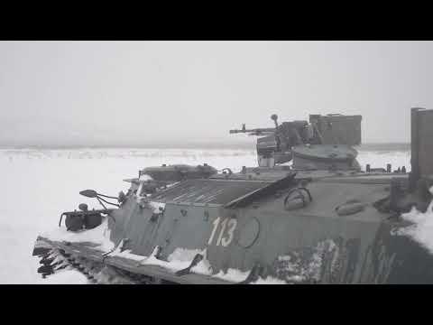 Занятия морских пехотинцев ТОФ в ходе зимнего периода обучения