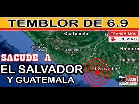 Ultima Hora Temblor - Sismo - Terremoto Magnitud 6.9 en El Salvador 22 Junio