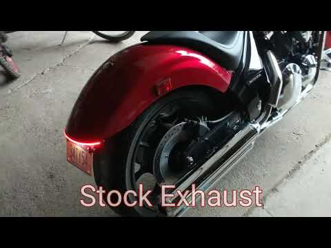2018 Honda Fury Stock Exhaust Compared to the Cobra Swept Exhaust
