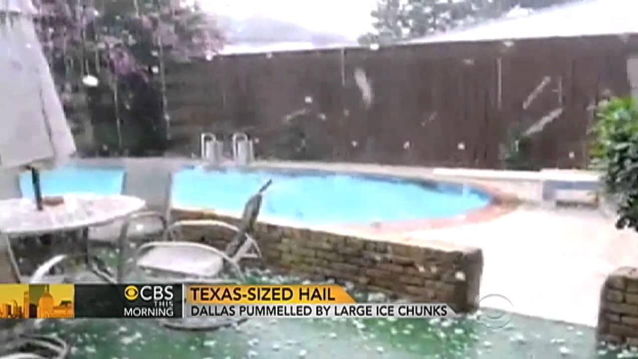 baseball sized hail pummels dallas fort worth youtube
