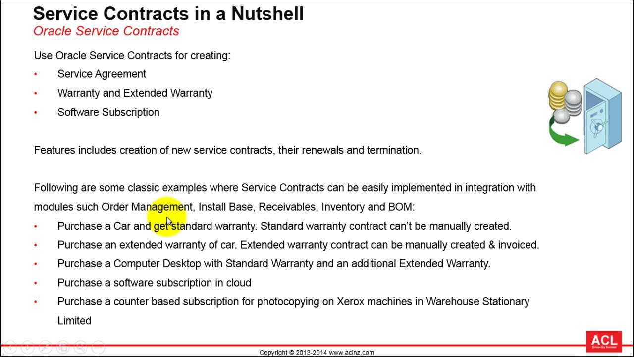Oracle Service Contracts Solution in a Nutshell R1223 YouTube – Service Contract