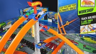 Hot Wheels Track Builder 5-Lane Tower Starter Set