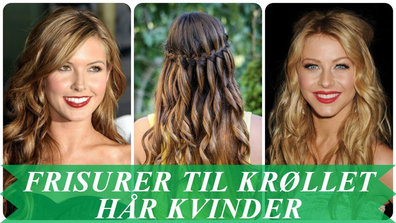 f4ee69f50c7b Frisurer til krøllet hår kvinder - YouTube