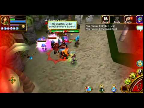 Arcane Legends Gameplay | Kraken Isles - Skull Cove - Captain Blood Hammer Boss | L41 Rouge Solo
