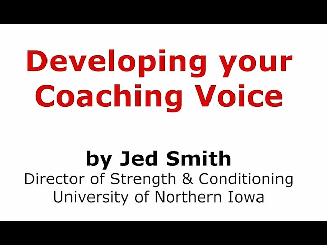 How to Improve your Coaching Voice
