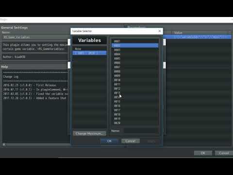 Limited Variables - RPG Maker MV :: Biud436's RPG Maker MV Plugins