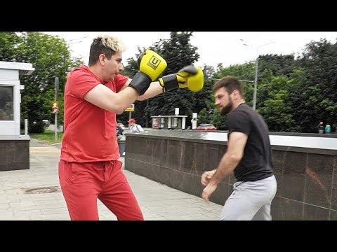 Боксер против прохожих / В поисках вырубателей