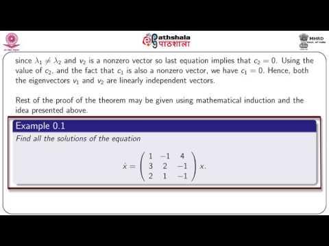 Linear homogeneous autonomous system (MATH)