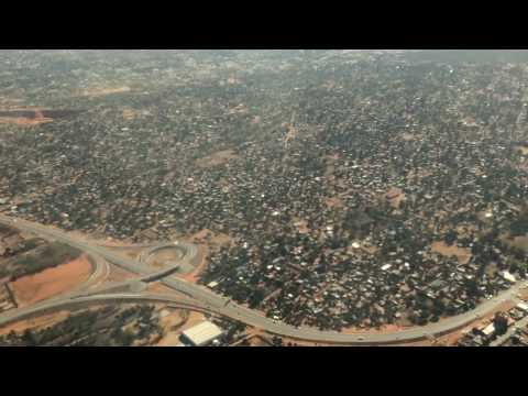 Maputo, Mozambique. National express highway look from flight