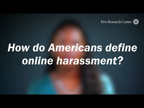 How do Americans define online harassment?