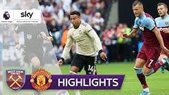 Hammers überholen Red Devils | West Ham United - Manchester United 2:0 | Highlights - Premier League