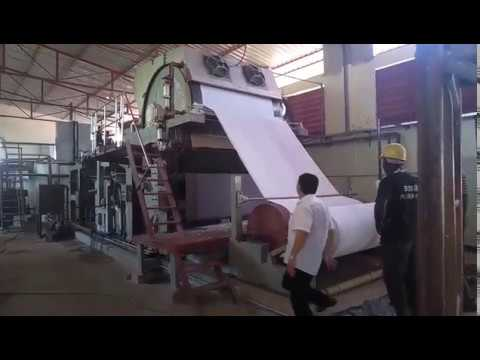 5TPD tissue paper machine in Angola/waste paper recycling project