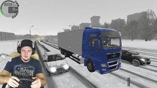 РАБОТАЮ НА ФУРЕ MAN - CITY CAR DRIVING с РУЛЕМ
