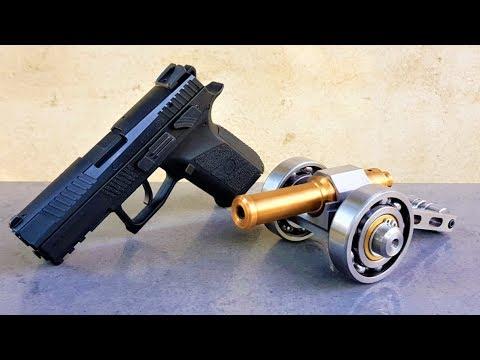 Powerful Mini Cannon vs Gun ( CZ P07 9mm ) POWERFUL TEST !!! Shooting into BALLISTIC GEL !!!