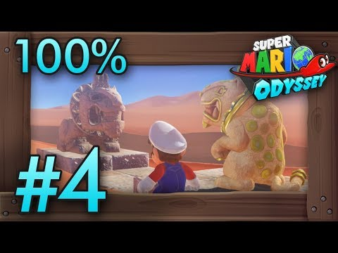 Super Mario Odyssey 100% Walkthrough Part 4 | Sand Kingdom #2 (All Moons & Coins) Switch Gameplay
