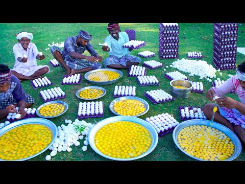 1500 EGGS | Three Types Of Scrambled Egg Recipes Cooking In Village | Quick and Easy Egg Recipes