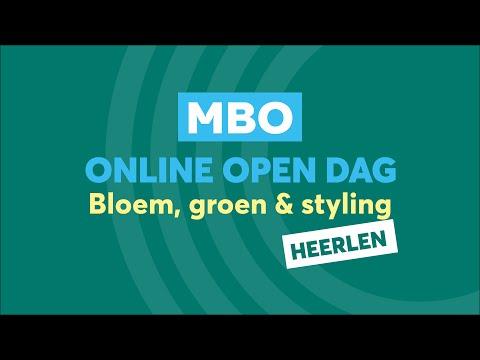 Heerlen MBO Bloem, Groen en Styling Online Open Dag