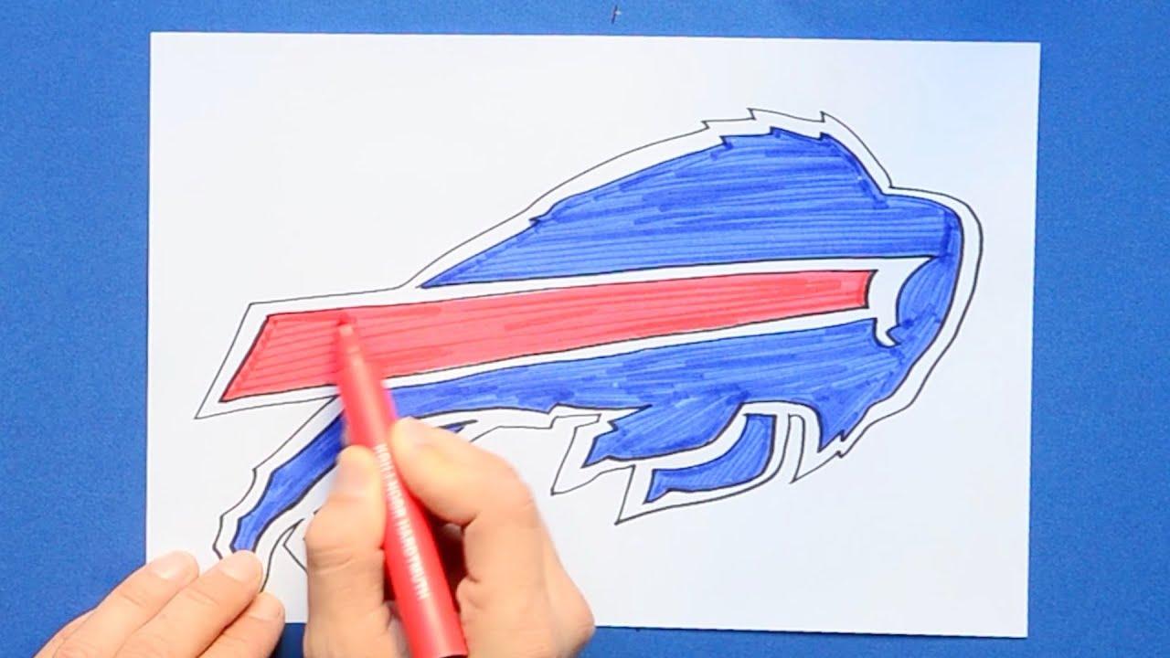 How To Draw The Buffalo Bills Logo Nfl Team Youtube