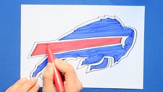 How to draw and color the Buffalo Bills Logo - NFL Team Series