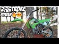 NEW KX100 TWO STROKE SUPERMINI IS INSANELY FAST!!