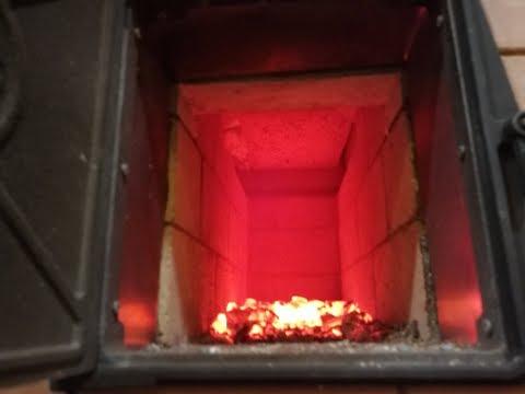 Кирпичная банная печь каменка процесс топки
