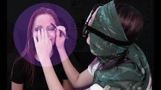 DESAFIO MAQUIANDO SEM OS OLHOS | Que diabos? feat. Karen Bachini