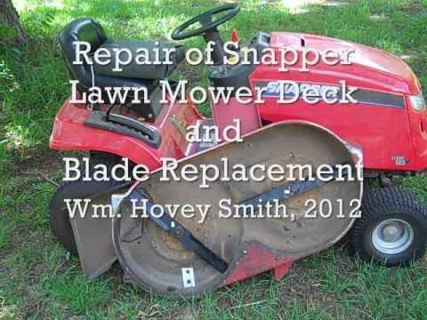 Snapper Lawn Mower Deck Repair Amp Blade Change Youtube