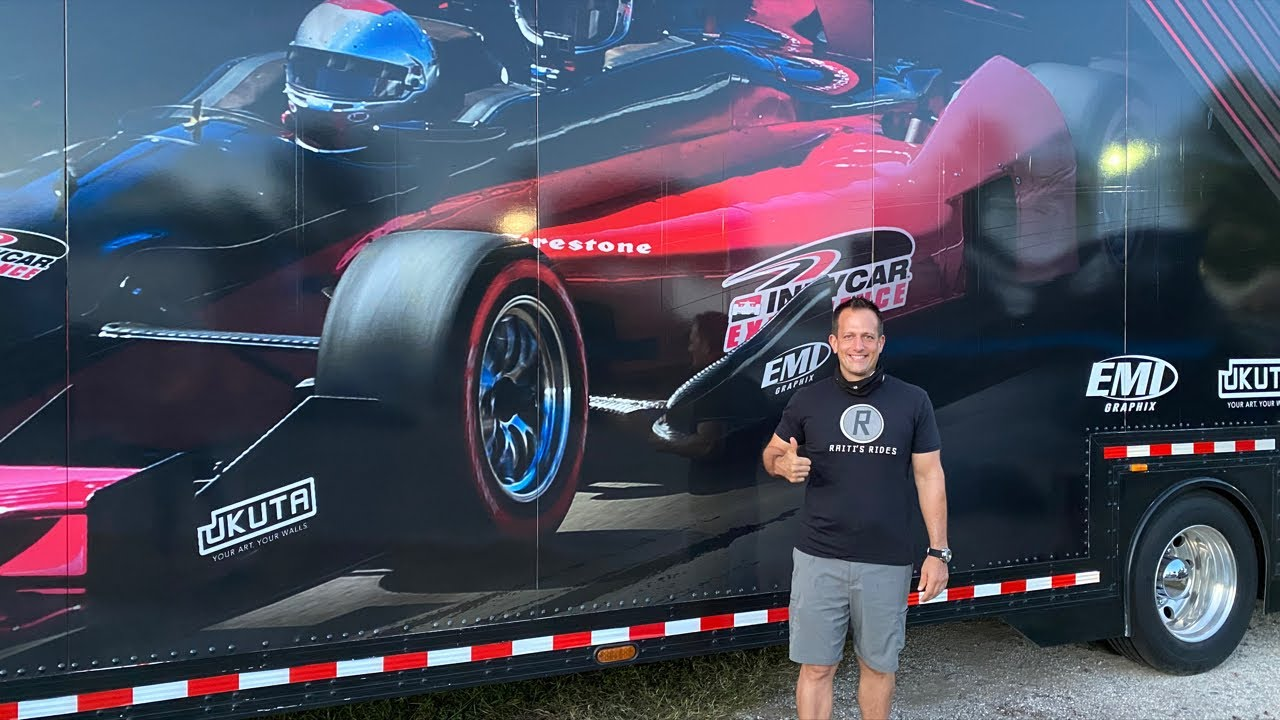What's it like to RIDE in an INDYCAR with Mario Andretti?