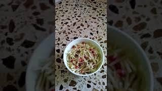 Очень вкусный салат из зелёной редьки