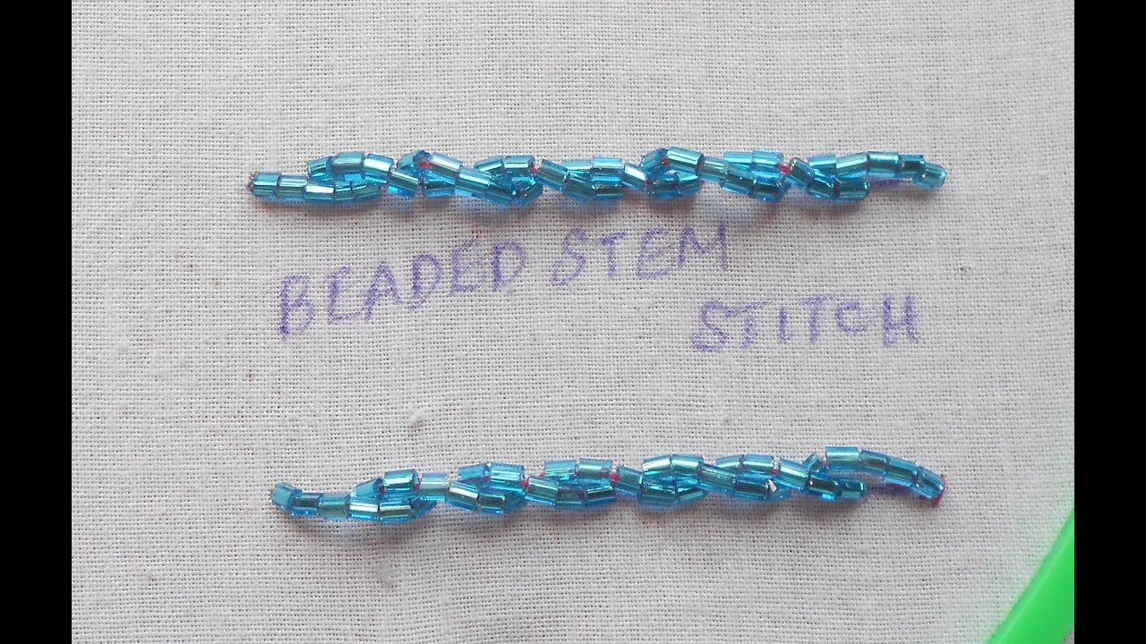 Bead embroidery how to sew a bungle beaded stem stitch