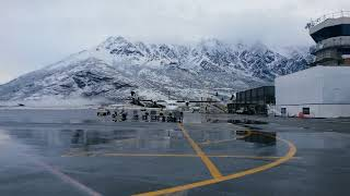 Snowy Queenstown Airport thumbnail