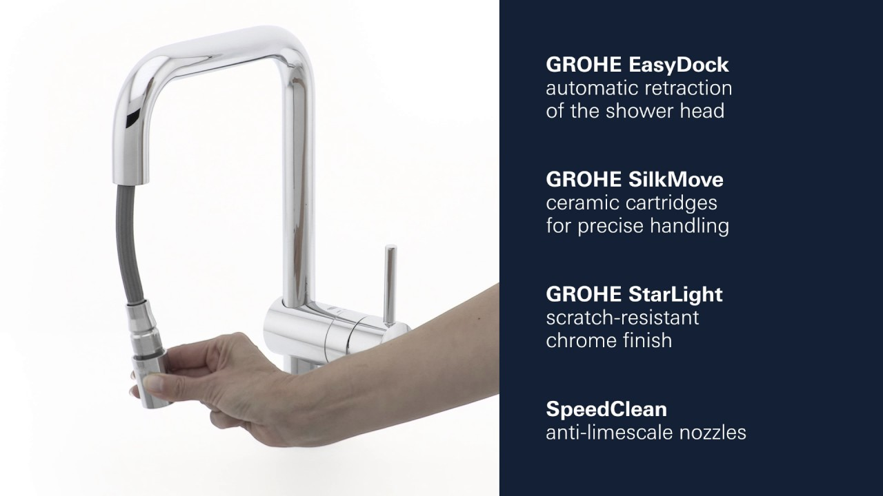 Grohe Minta Kitchen Faucet Dual Spray Pull Down Product Video Youtube