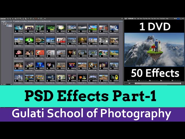 04 PSD ( Part-1) |  Wedding Effects For Edius 7, 8 & 9 | Video Mixing | Mask Effects ( 50 Effects )