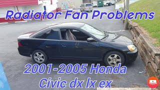 how to fix radiator fans/coolant tempature/fan switch on 2001-2005 honda civic dx lx ex