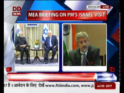 Press Briefing on PM Modi's bilateral meet with Israeli PM N