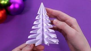 Weihnachten basteln: Weihnachtsdeko selber machen 🎄 Weihnachtsbaum falten