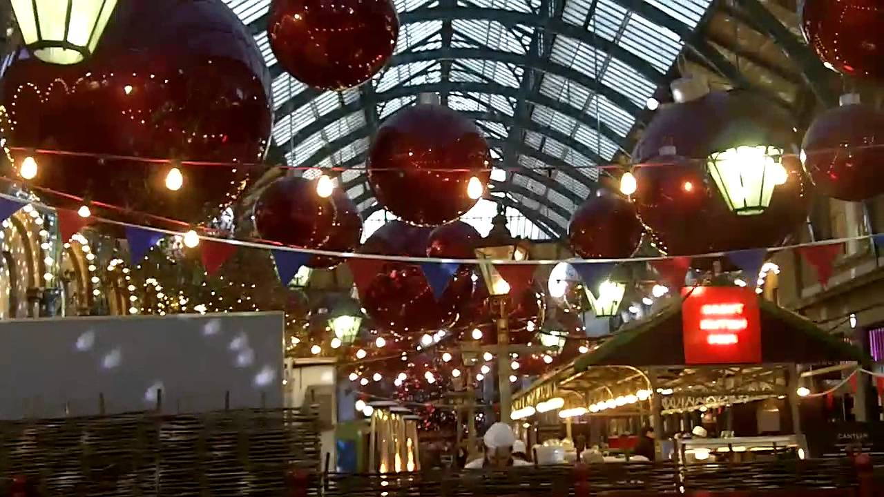 Christmas markets and lights in London (Covent Garden) - YouTube
