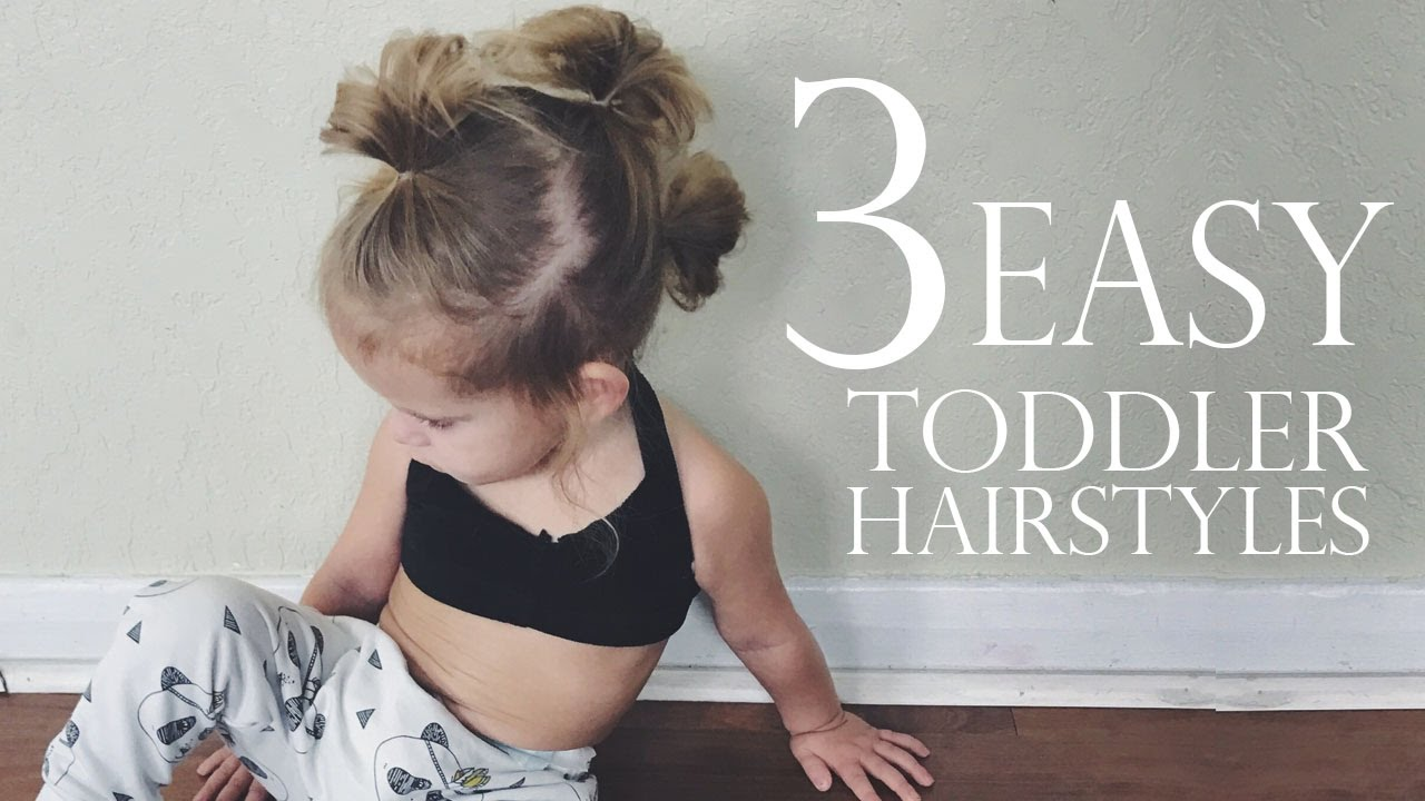3 EASY Toddler Hairstyles - YouTube