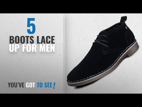 Top 10 Boots Lace Up [ Winter 2018 ]: Men's Suede Dessert Boot Lace up Leather Oxfords Chukka Ankle