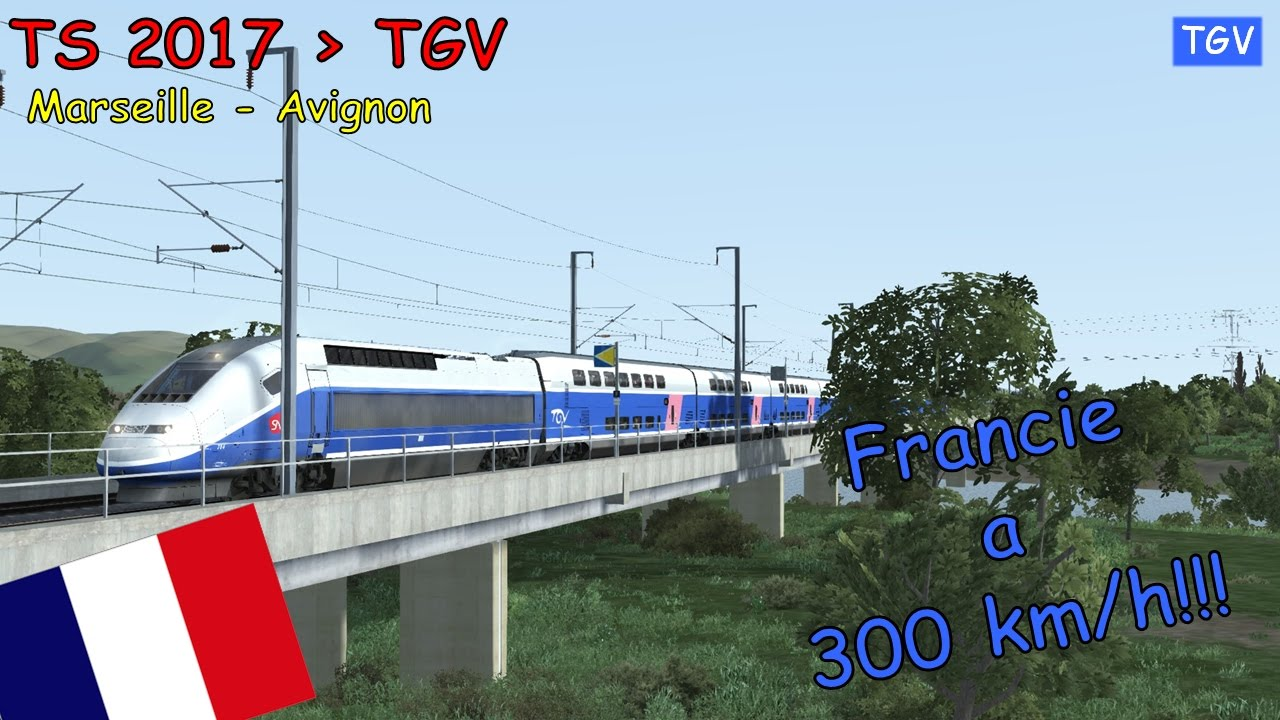 train simulator 2017 15 320 km h tgv marseille avignon jackey cz youtube. Black Bedroom Furniture Sets. Home Design Ideas