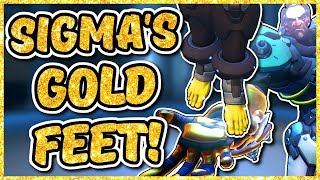 Overwatch - SIGMA'S GOLDEN FEET (Sigma Gold Gun)
