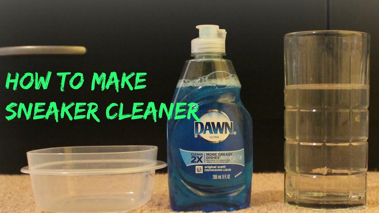 how to make sneaker cleaner - YouTube