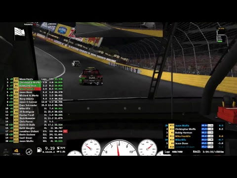 Iracing NIS Open at Charlotte 400 laps