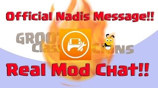 🔴Exclusive Nadis  Mod Reveal🔴 Mod Chat From Banning Clash On GrootTV