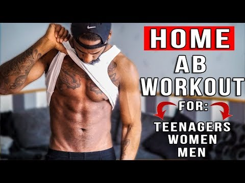 Home Ab Workout To Lose Belly Fat In 1 week (Teenagers, Women And Men)