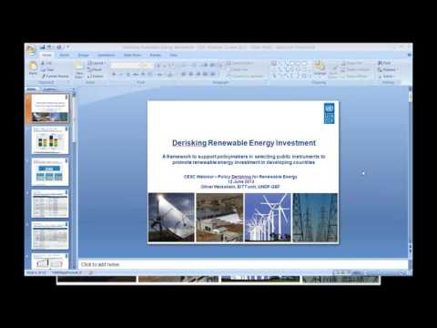 Policy Derisking for Renewable Energy