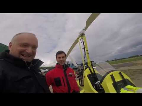 sergio's first flight in a gyroplane/gyrocopter