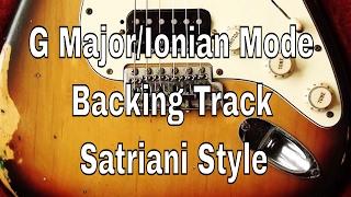 uplifting g major(ionian mode) backing track satriani style